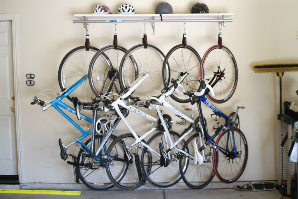 do it yourself with a homemade bike rack. Black Bedroom Furniture Sets. Home Design Ideas