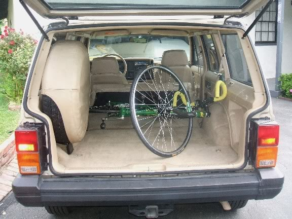 Bicycle Inside Car