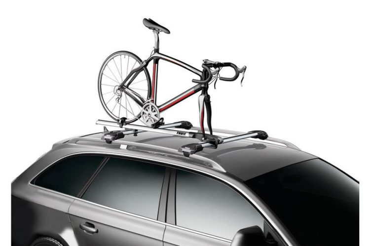 Roof mount bike rack