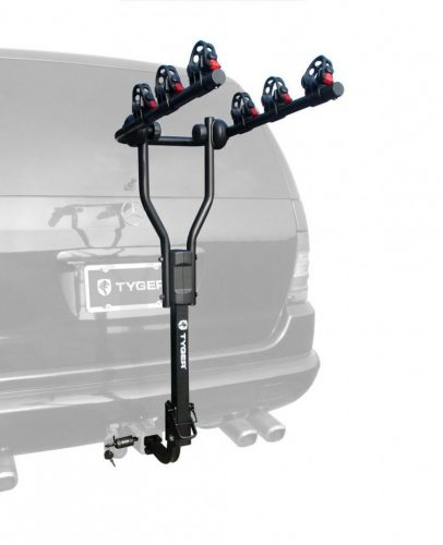 TYGER TG-RK3B101S 3-Bike Hitch Mount Bike Rack