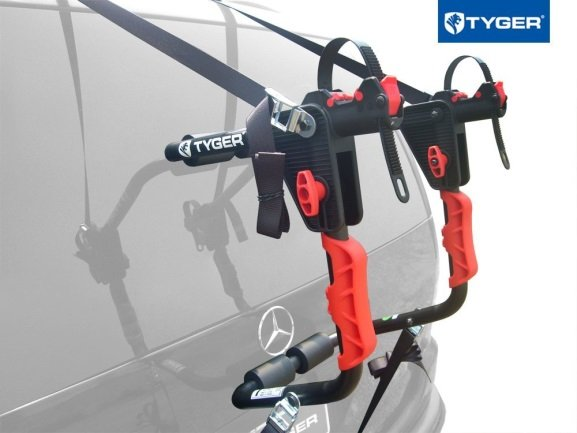 TYGER Deluxe Black 1-Bike Trunk Mount Bicycle Carrier Rack