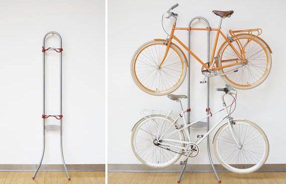 Floor to Ceiling Vertical Bike Racks